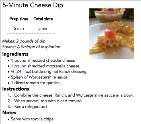 5-Minute Cheese Dip Recipe